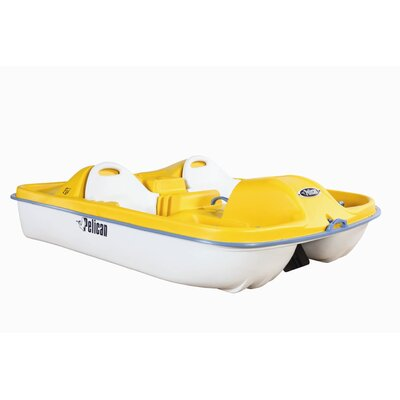 Cheap Pelican Fiji Three Person Pedal Boat with Yellow Deck and White Hull (HHA55P101)