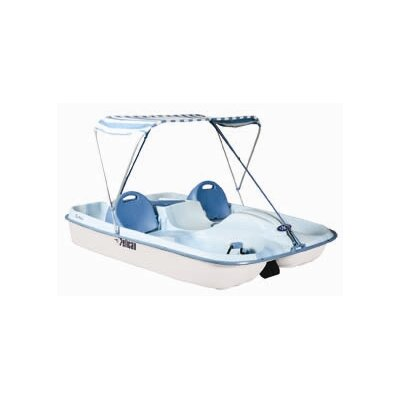 Cheap Pelican Rainbow Deluxe Four Person Pedal Boat with Fade Blue / White Deck and White Hull (HHF27P201)