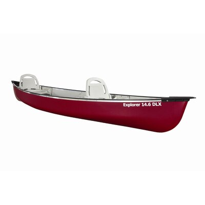 Buy Low Price Pelican Explorer 14.6′ Canoe in Deluxe Red (ABA14P200-A)