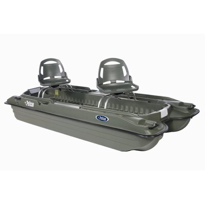 Buy Low Price Pelican Bass Raider 10E Pontoon Boat in Khaki (BBA10P409)