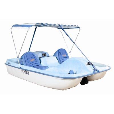 Cheap Pelican Rainbow E DLX Fade Pedal Boat in Blue / White (HHF27P301)