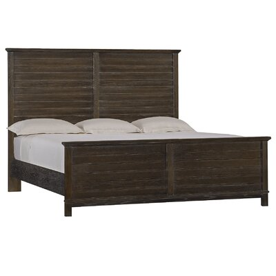 Panel Bed Size: King, Color: Distressed Morning Fog
