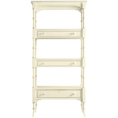 Coastal Living Cottage Etagere 75.25'' Bookcase Finish: Shell Product Image 7426