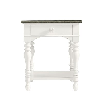 Coastal Living Retreat End Table with Storage Color: Saltbox White