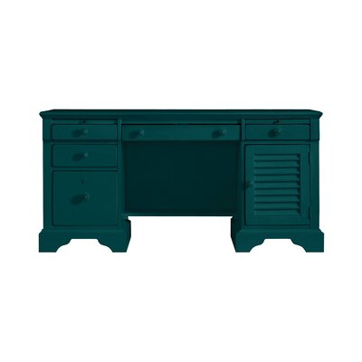 Coastal Living Executive Desk Finish: Belize Teal Product Photo 4826