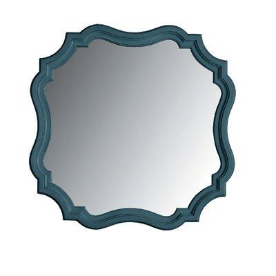 Coastal Living Retreat Piecrust Mirror Finish: English Blue