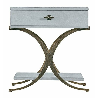 Resort Windward Dune End Table with Storage Color: Sea Salt