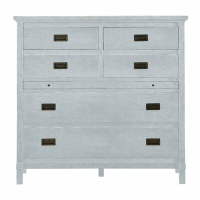 Resort 6 Drawer Havens Harbor Media Chest Color: Sea Salt