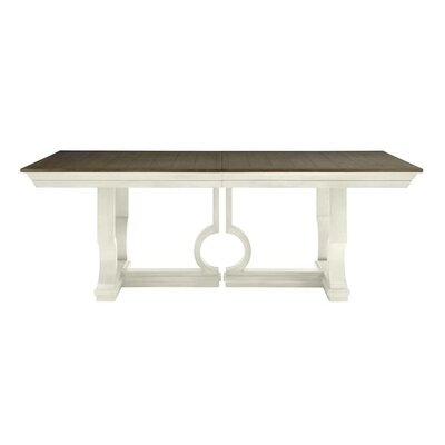 Oasis Moonrise Pedestal Extendable Dining Table Finish: Saltbox White