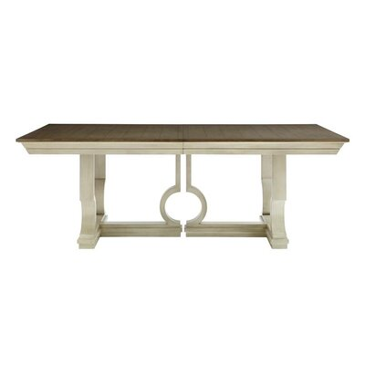 Oasis Moonrise Pedestal Extendable Dining Table Finish: Oyster