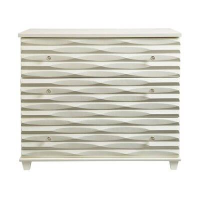 Oasis Tides 3 Drawer Dresser Color: Saltbox White