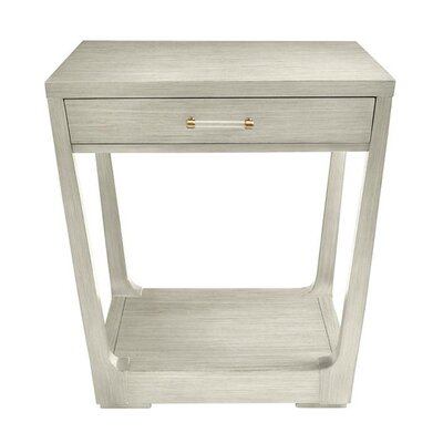 Oasis Meridian End Table with Storage Color: Cotswold Blue