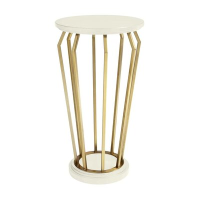 Oasis Manzanita Martini End Table Color: Saltbox White