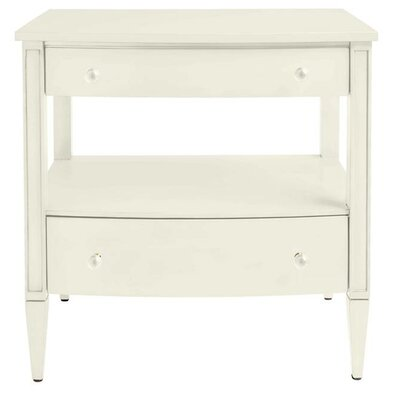 Oasis Mulholland 2 Drawer Nightstand Finish: Saltbox White