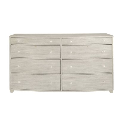 Oasis 8 Drawer Double Dresser Color: Oyster