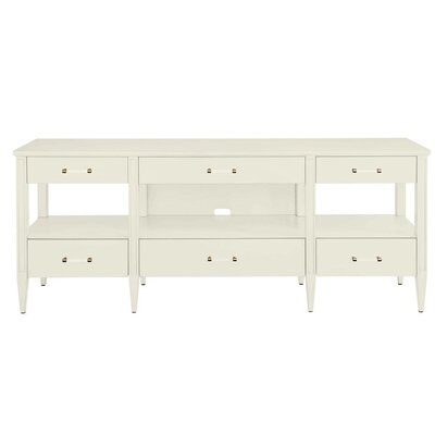 Oasis Mulholland 74 TV Stand Color: Saltbox White
