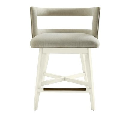 Oasis Swivel Bar Stool Finish: Saltbox White