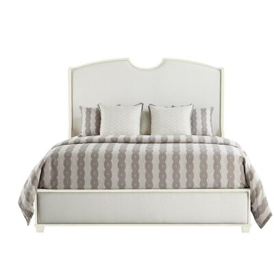 Oasis Upholstered Panel Bed Size: Queen, Color: Saltbox White