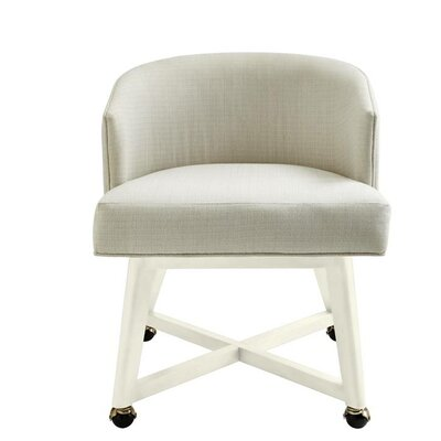 Oasis Carlyle Barrel Chair Finish: Saltbox White