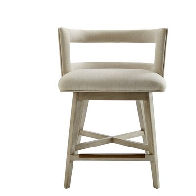 Oasis Swivel Bar Stool Finish: Oyster