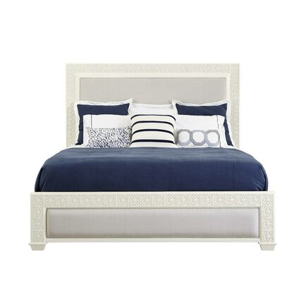 Oasis Upholstered Panel Bed Size: King, Color: Saltbox White