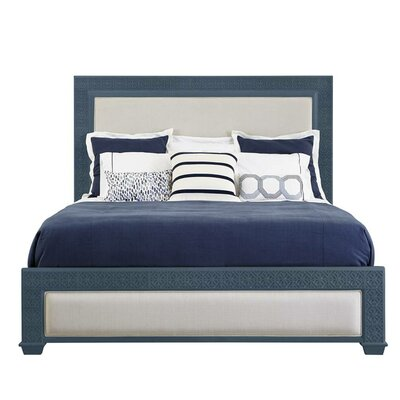 Oasis Upholstered Panel Bed Finish: Cotswold Blue, Size: King
