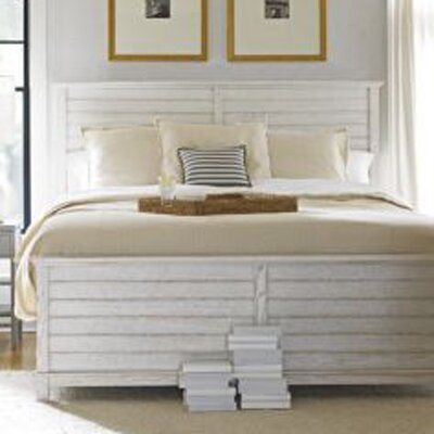 Panel Bed Size: King, Finish: Distressed Morning Fog