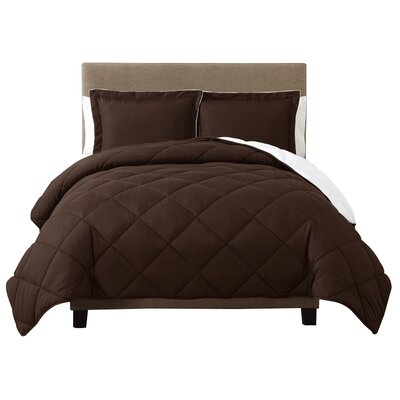 Caribbean Joe Comforter Set Size: King, Color: Chocolate