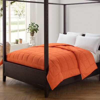 Pineapple Comforter Color: Carrot, Size: Full/Queen