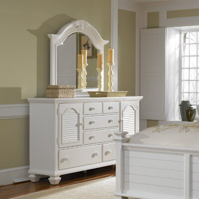 Mirren Harbor 5 Drawer Combo Dresser with Mirror