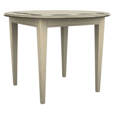 Broyhill Color Cuisine Round Oval Counter Table with 36″ Contemporary Legs in Buttermilk (BRH2167)