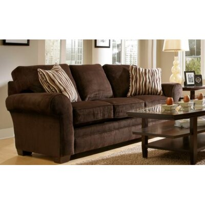 Zachary Sleeper Sofa Upholstery: Dark Brown