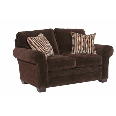 Zachary Loveseat Upholstery: Dark Brown