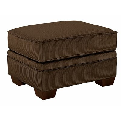 Zachary Ottoman Upholstery: Dark Brown