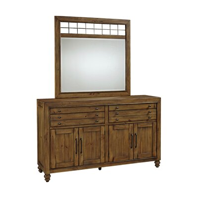 Bethany Square 8 Drawer Combo Dresser with Mirror