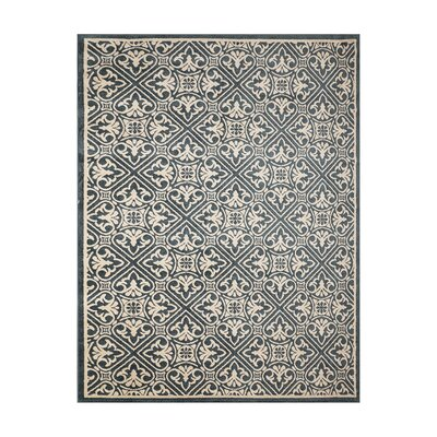 Altagore Blue/Ivory Indoor/Outdoor Area Rug Rug Size: Rectangle 53 x 7
