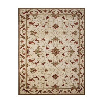Mildred Ivory Indoor/Outdoor Area Rug Rug Size: Rectangle 53 x 7