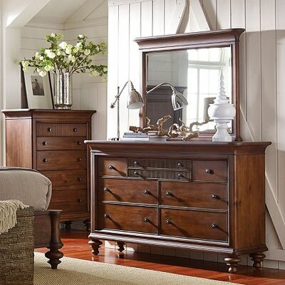 Cascade 7 Drawer Dresser with Mirror