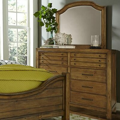 Bethany Square 10 Drawer Dresser with Mirror