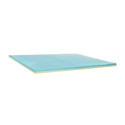 4 Gel Memory Foam Mattress Topper Size: King
