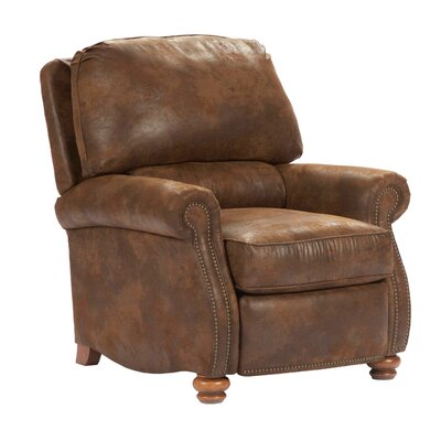Broyhill Laramie Faux Leather Microfiber Recliner In Brown