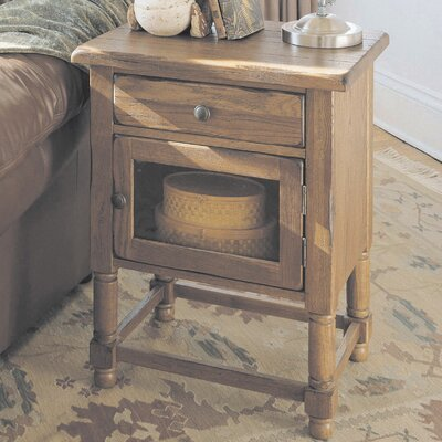 Cheap Broyhill Attic Chairside Table in Rustic Oak (BRH4030)