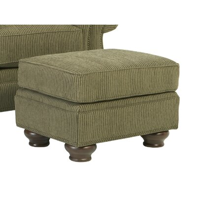 Laramie Ottoman Nailhead Detail: Without Nailhead Trim, Upholstery: Whitewash