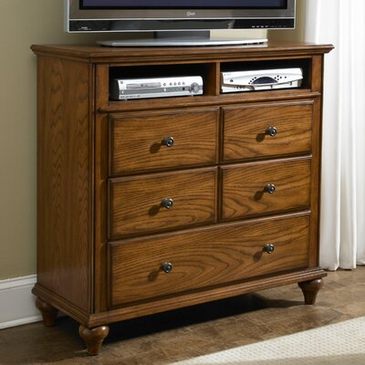 Broyhill Hayden Place 3 Drawer Media Chest Finish Golden Oak