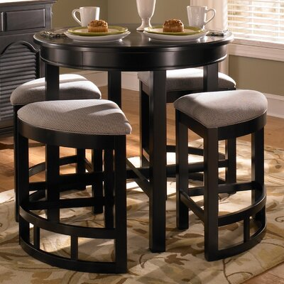 Jofran 976 Caleb Brown Tile Top Counter Height Table with Butterfly ...