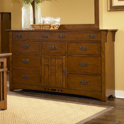 In store financing Artisan Ridge Door 9 Drawer Combo D...