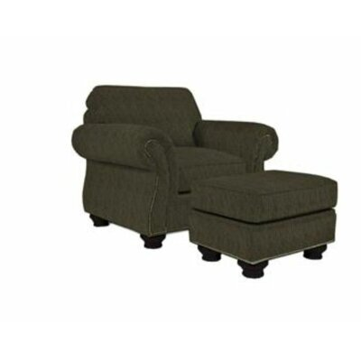 Laramie Armchair and Ottoman Nailhead Detail: Nailhead Trim, Color: Espresso