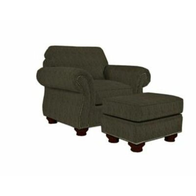 Laramie Armchair and Ottoman Nailhead Detail: Nailhead Trim, Color: Black