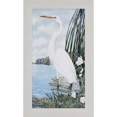 Great Egret by Harris Framed Graphic Art 1931