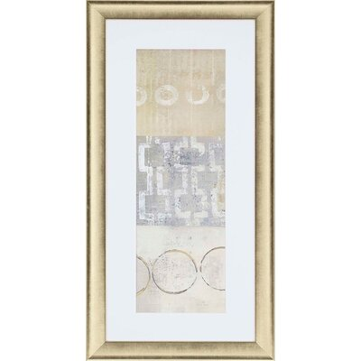 Circle Square Panel III Framed Painting Print